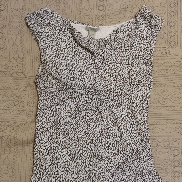 H&M Tops - [H&M] Slouchy Semi-Cowl Graphic Print Knit Tank
